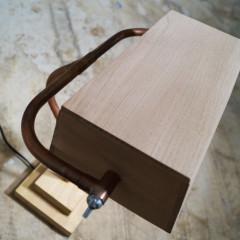 wooden bankers lamp